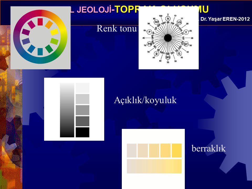 Renk tonu Açıklık/koyuluk berraklık