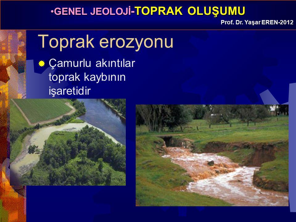 Toprak erozyonu Çamurlu akıntılar toprak kaybının işaretidir