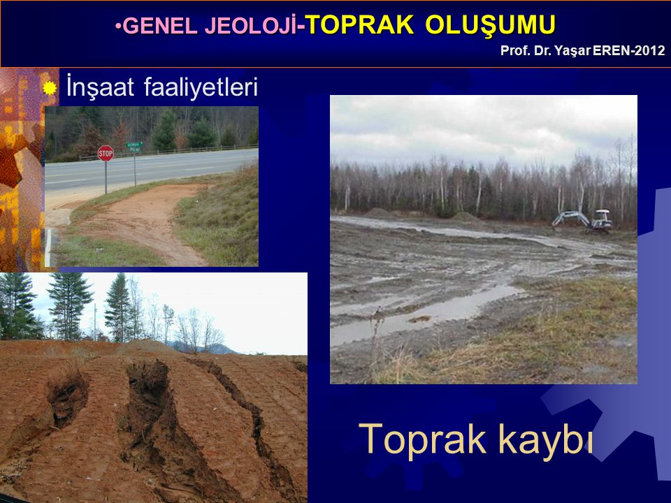 İnşaat faaliyetleri Toprak kaybı
