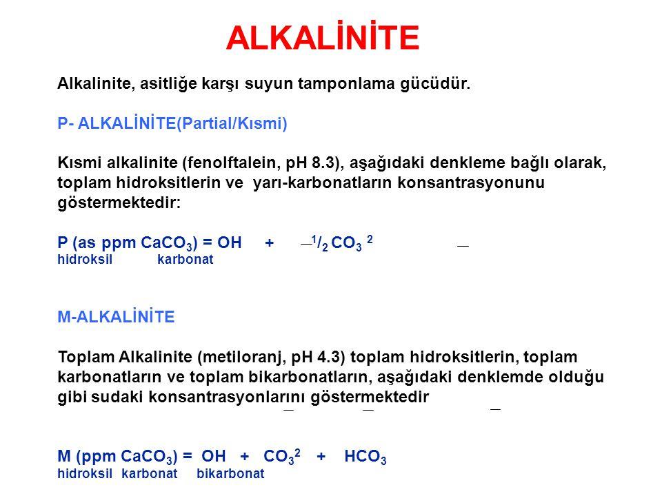ALKALİNİTE Alkalinite, asitliğe karşı suyun tamponlama gücüdür.
