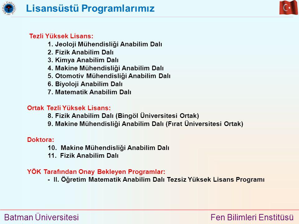 Lisansüstü Programlarımız