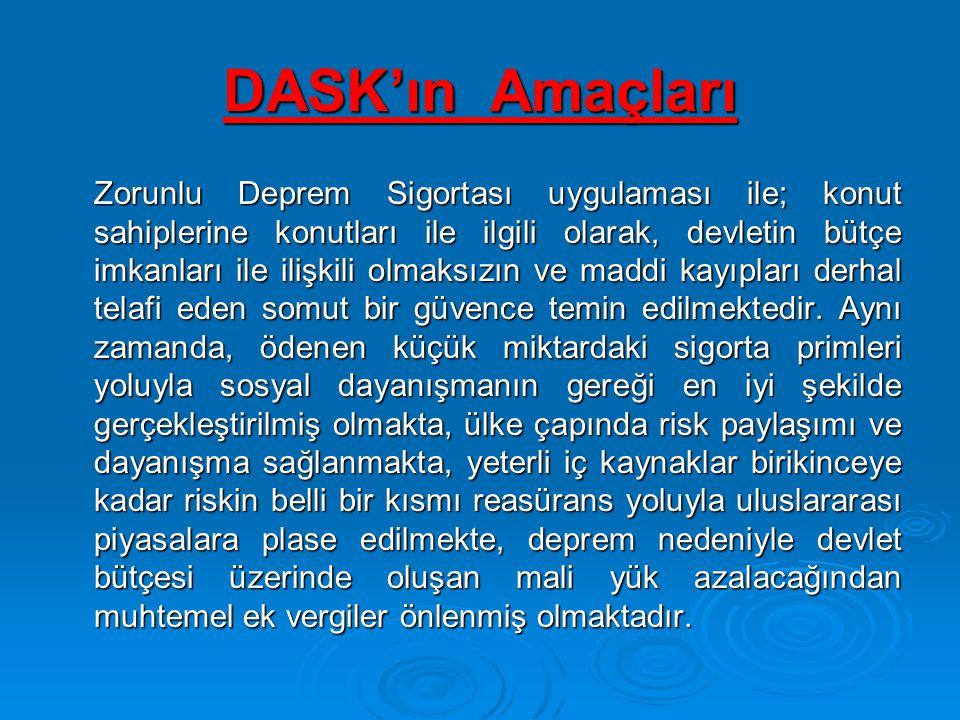 DASK'ın Amaçları