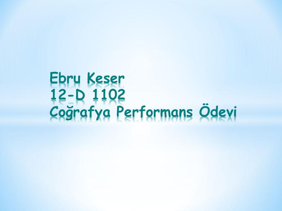 Ebru Keser 12-D 1102 Coğrafya Performans Ödevi