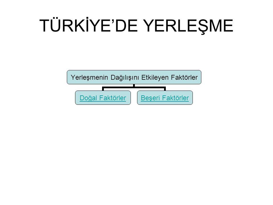 TÜRKİYE'DE YERLEŞME