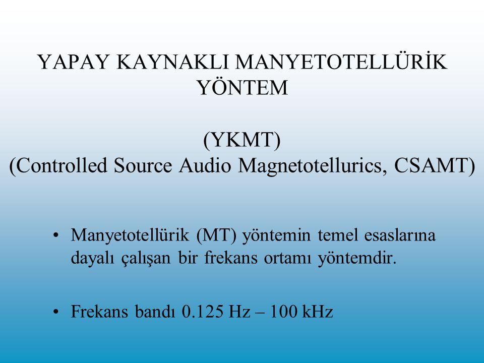 YAPAY KAYNAKLI MANYETOTELLÜRİK YÖNTEM (YKMT) (Controlled Source Audio Magnetotellurics, CSAMT)