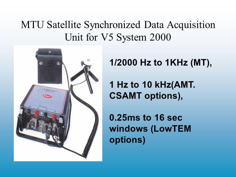 MTU Satellite Synchronized Data Acquisition Unit for V5 System 2000