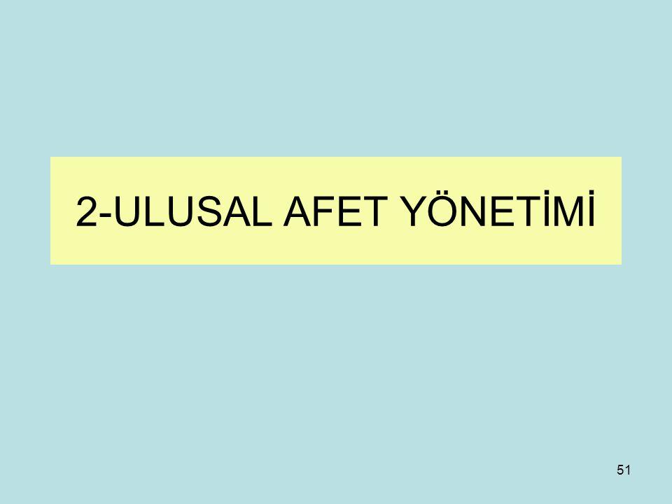 2-ULUSAL AFET YÖNETİMİ