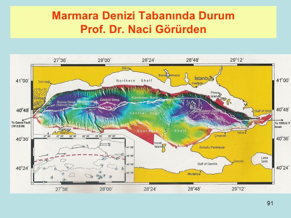 Marmara Denizi Tabanında Durum Prof. Dr. Naci Görürden