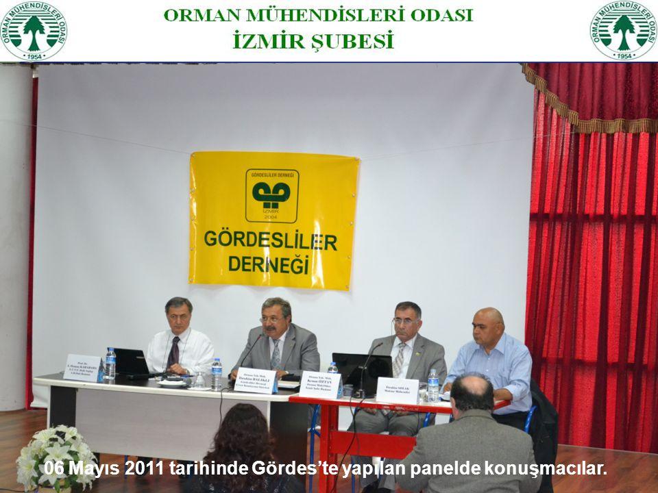 06 Mayıs 2011 tarihinde Gördes'te yapılan panelde konuşmacılar.