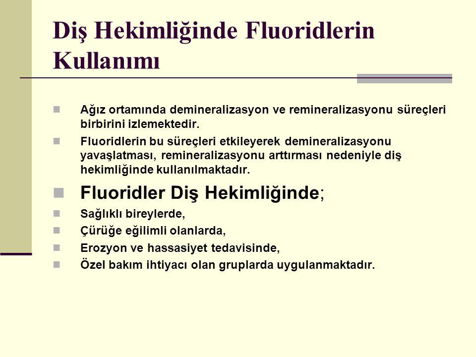 Diş Hekimliğinde Fluoridlerin Kullanımı