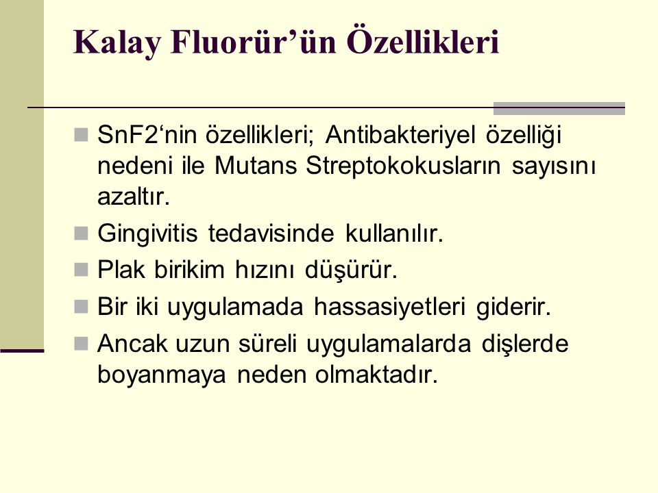 Kalay Fluorür'ün Özellikleri