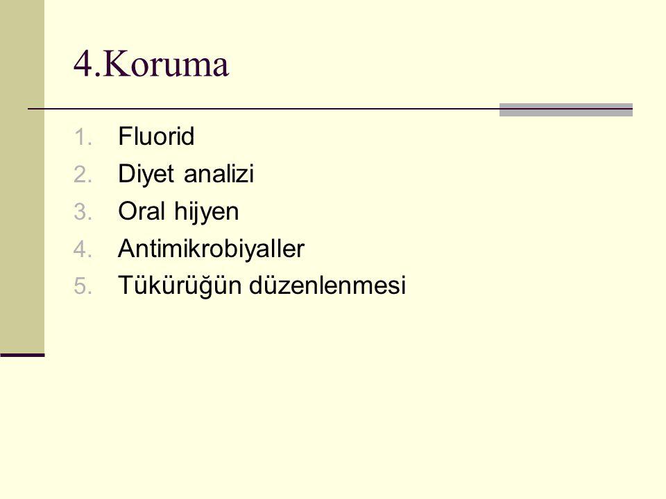 4.Koruma Fluorid Diyet analizi Oral hijyen Antimikrobiyaller