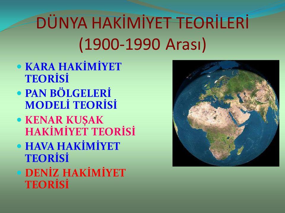 DÜNYA HAKİMİYET TEORİLERİ (1900-1990 Arası)