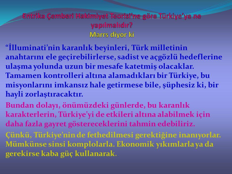 Entrika Çemberi Hakimiyet Teorisi'ne göre Türkiye'ye ne yapılmalıdır