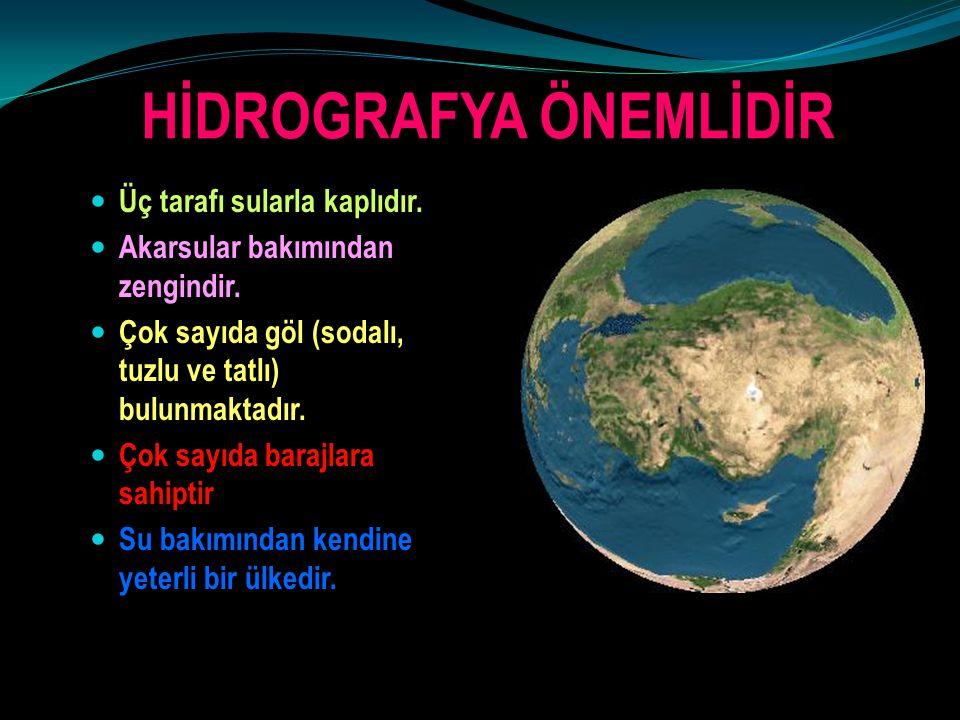 HİDROGRAFYA ÖNEMLİDİR