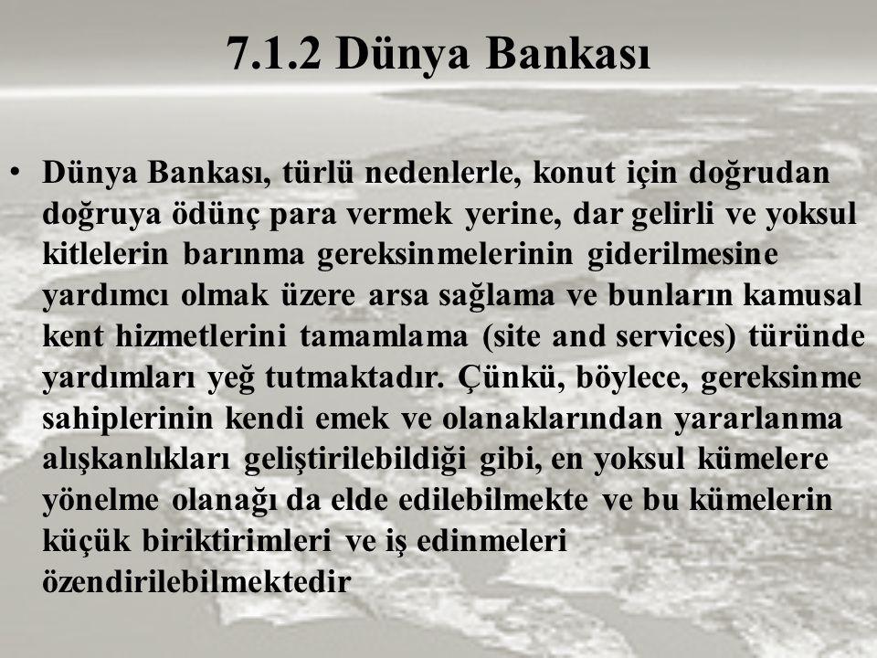 7.1.2 Dünya Bankası