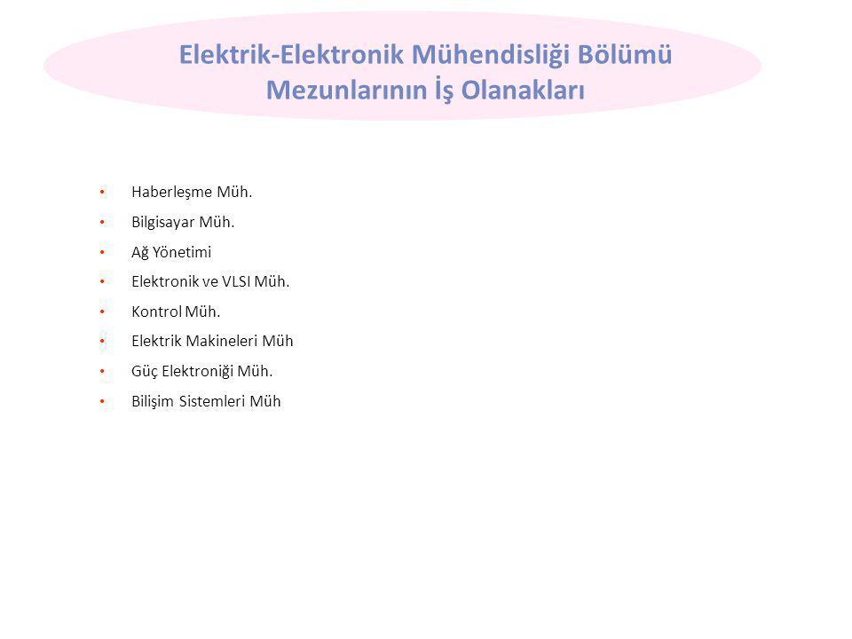 Elektrik-Elektronik Mühendisliği Bölümü Mezunlarının İş Olanakları