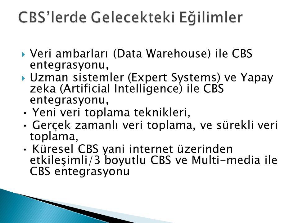 CBS'lerde Gelecekteki Eğilimler