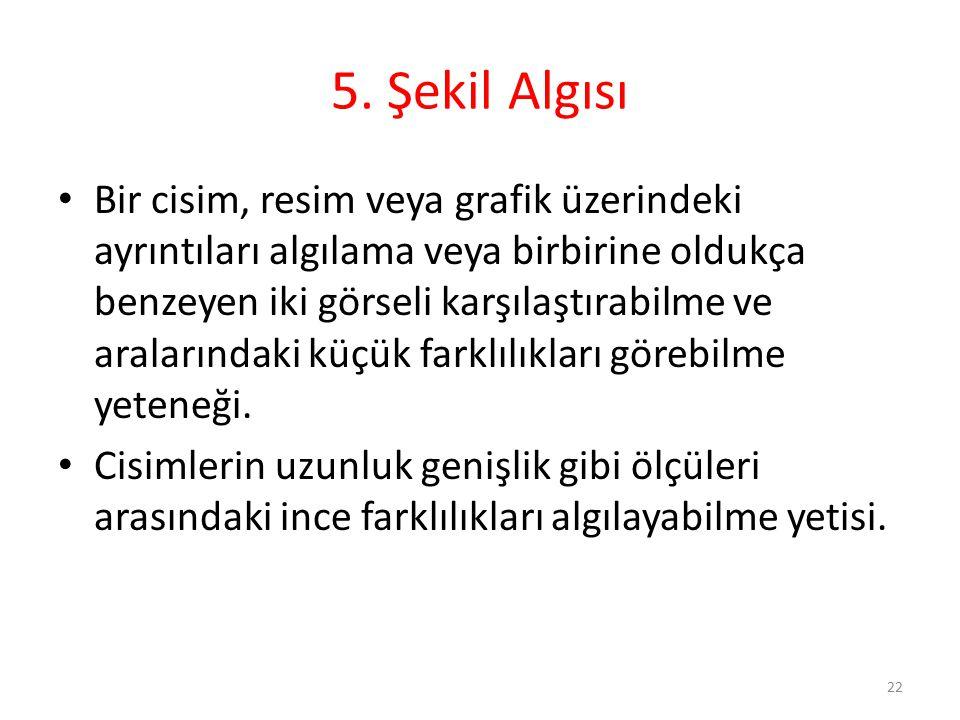 5. Şekil Algısı