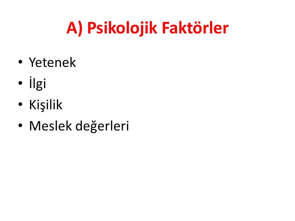 A) Psikolojik Faktörler
