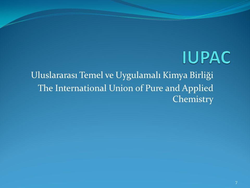 IUPAC Uluslararası Temel ve Uygulamalı Kimya Birliği