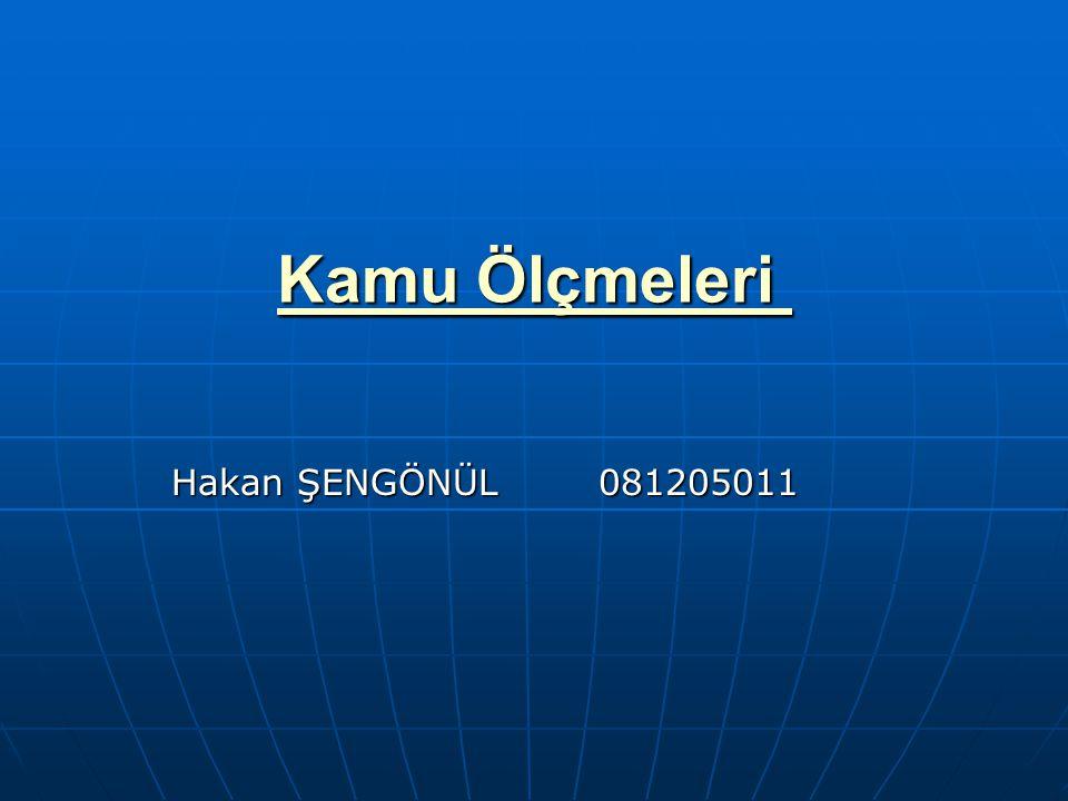 Kamu Ölçmeleri Hakan ŞENGÖNÜL 081205011