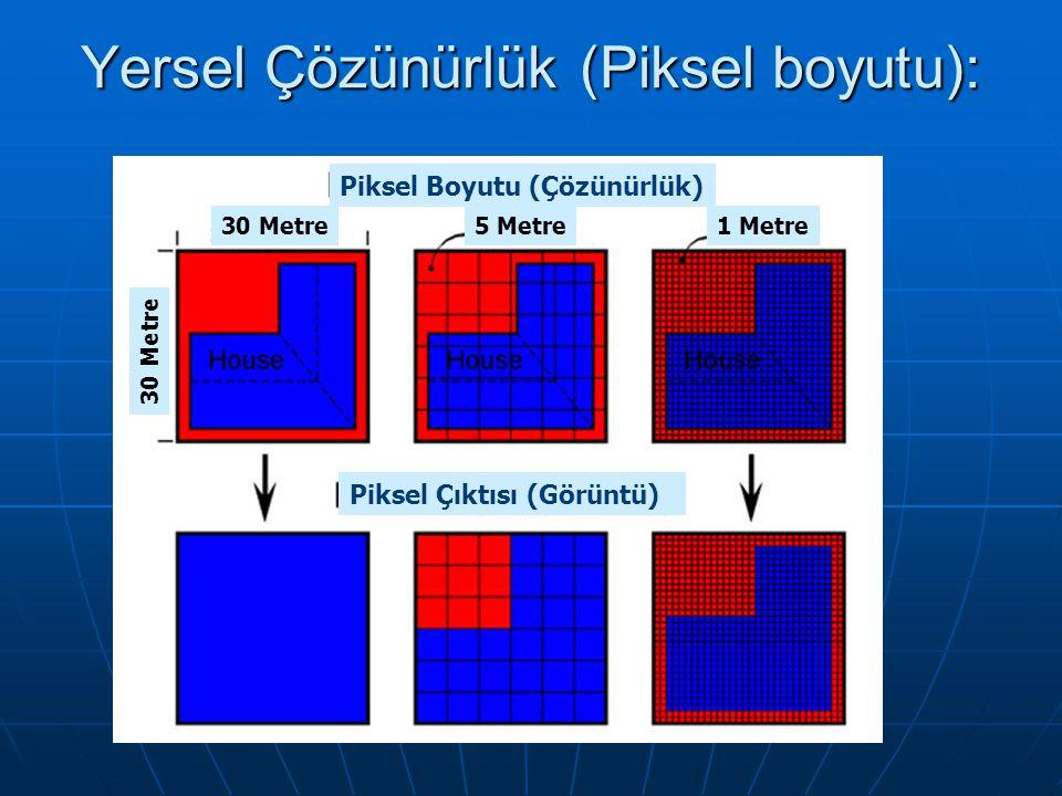 Yersel Çözünürlük (Piksel boyutu):