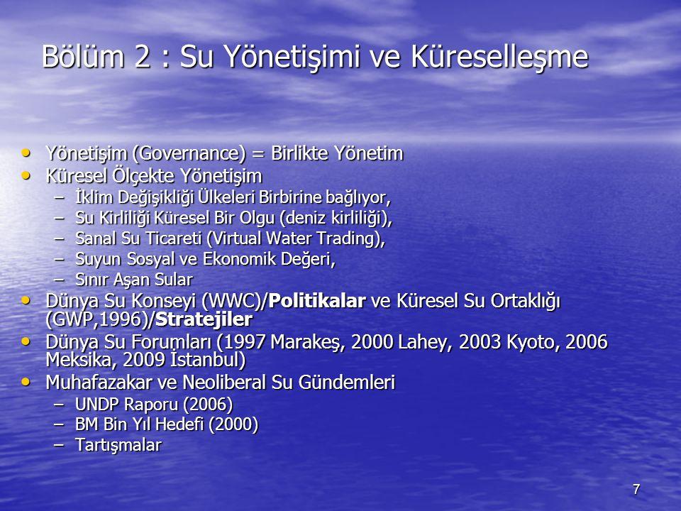 Bölüm 2 : Su Yönetişimi ve Küreselleşme