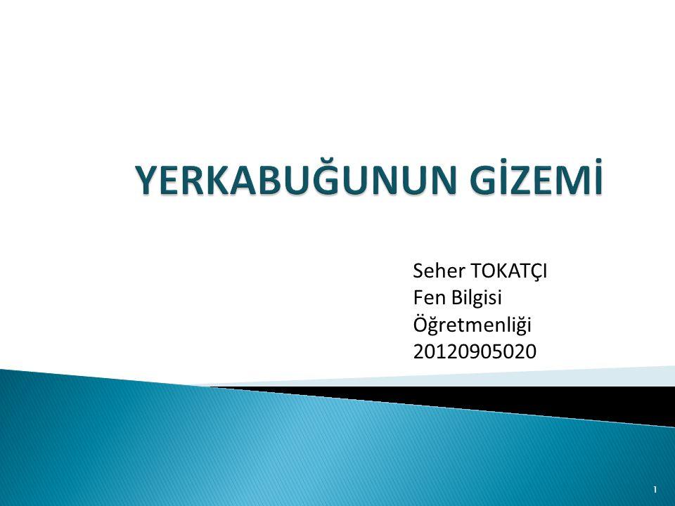 YERKABUĞUNUN GİZEMİ Seher TOKATÇI Fen Bilgisi Öğretmenliği 20120905020