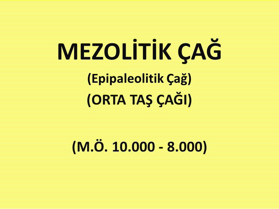 MEZOLİTİK ÇAĞ (ORTA TAŞ ÇAĞI) (M.Ö. 10.000 - 8.000)