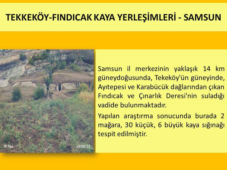 TEKKEKÖY-FINDICAK KAYA YERLEŞİMLERİ - SAMSUN