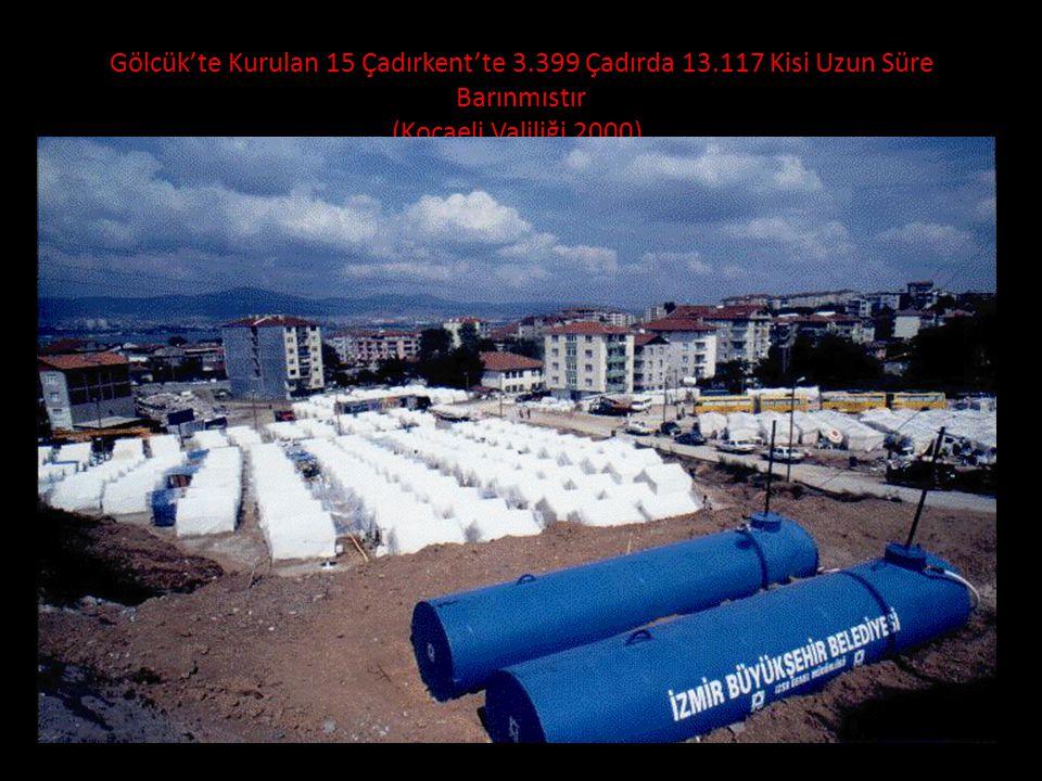 Gölcük'te Kurulan 15 Çadırkent'te 3. 399 Çadırda 13