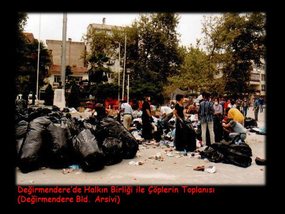 Değirmendere'de Halkın Birliği ile Çöplerin Toplanısı (Değirmendere Bld. Arsivi)
