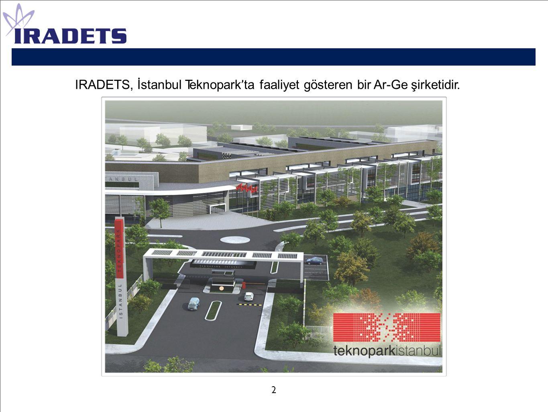 IRADETS, İstanbul Teknopark'ta faaliyet gösteren bir Ar-Ge şirketidir.