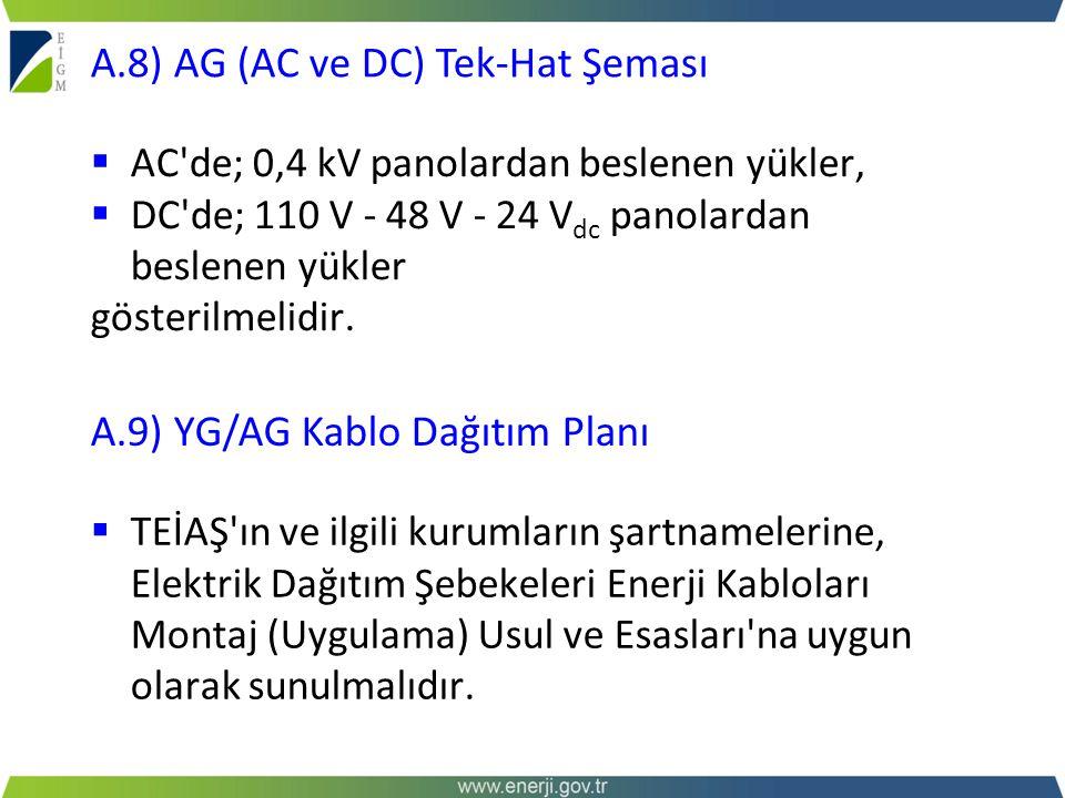 A.8) AG (AC ve DC) Tek-Hat Şeması