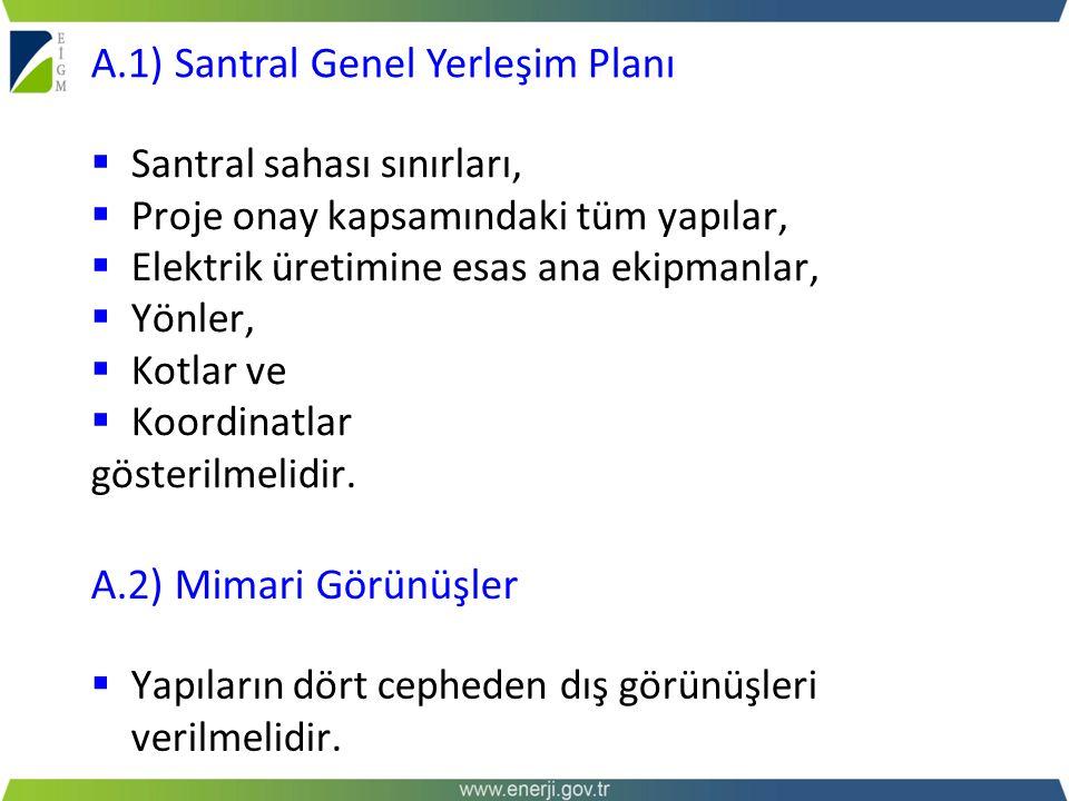 A.1) Santral Genel Yerleşim Planı