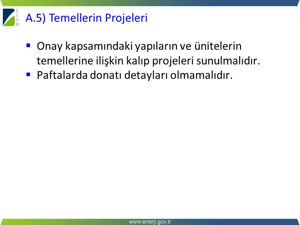 A.5) Temellerin Projeleri