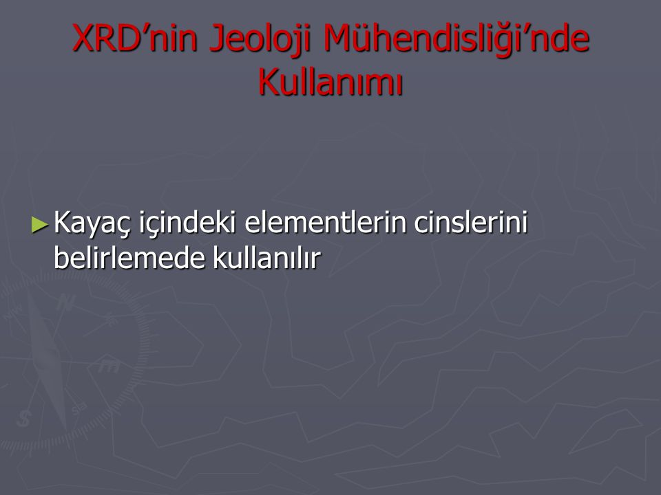 XRD'nin Jeoloji Mühendisliği'nde Kullanımı