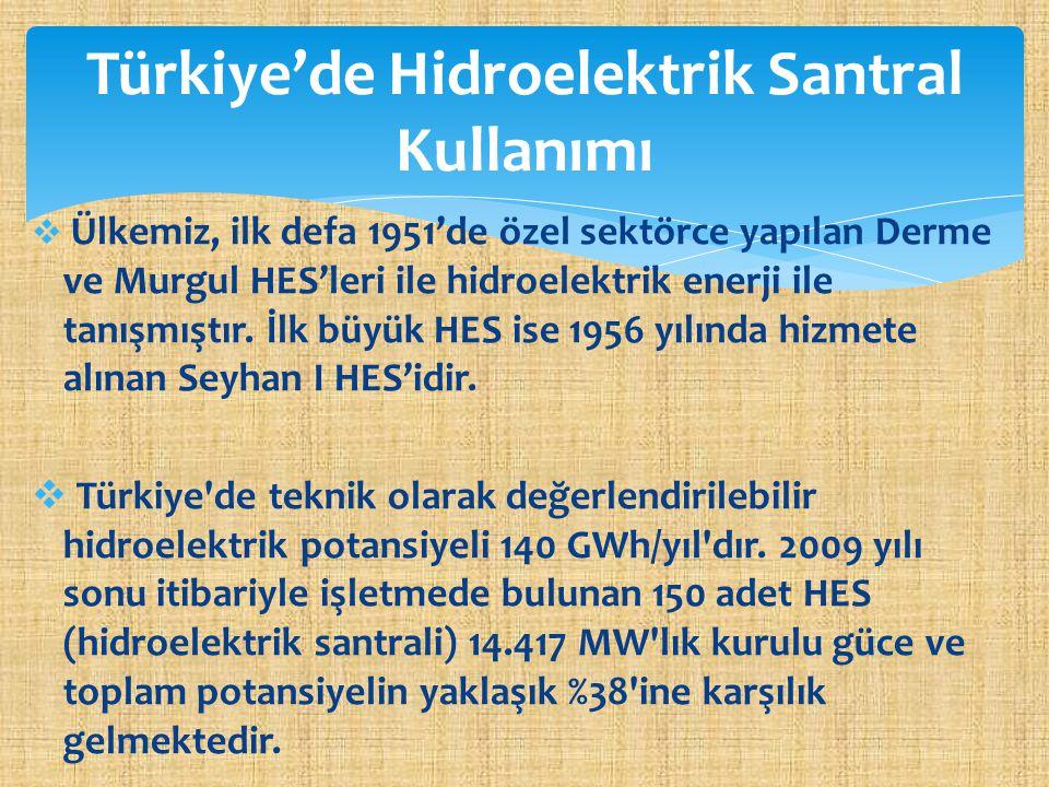 Türkiye'de Hidroelektrik Santral Kullanımı