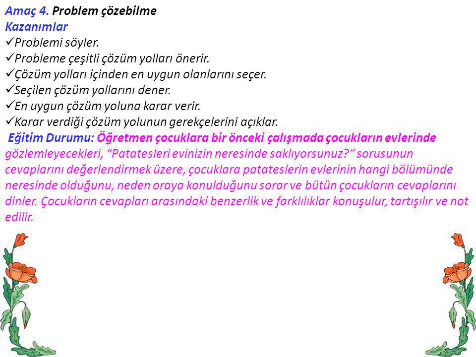 Amaç 4. Problem çözebilme