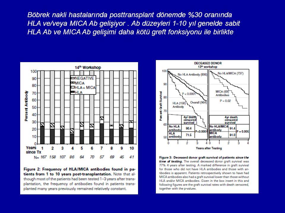 Böbrek nakli hastalarında posttransplant dönemde %30 oranında