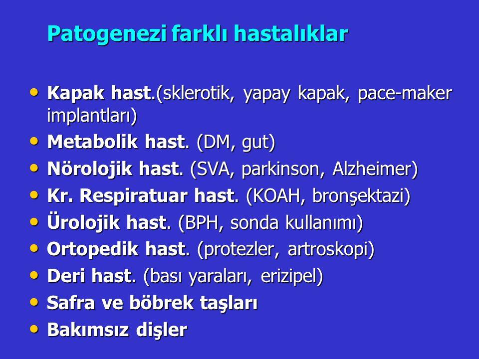 Patogenezi farklı hastalıklar