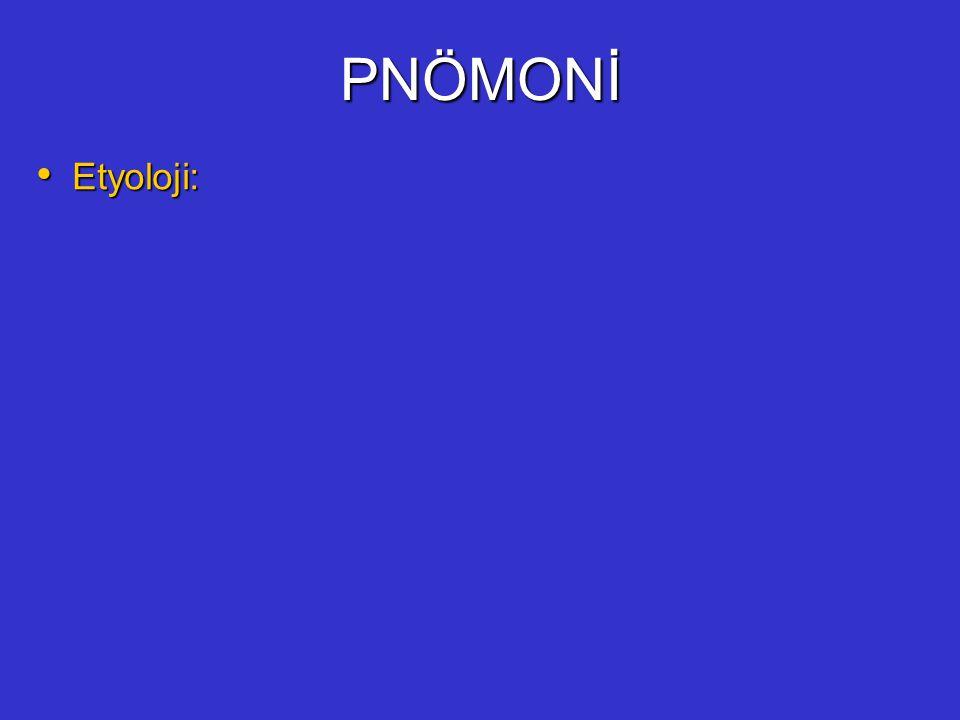 PNÖMONİ Etyoloji: