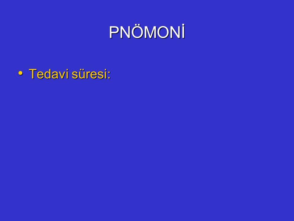 PNÖMONİ Tedavi süresi: