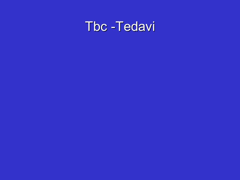 Tbc -Tedavi