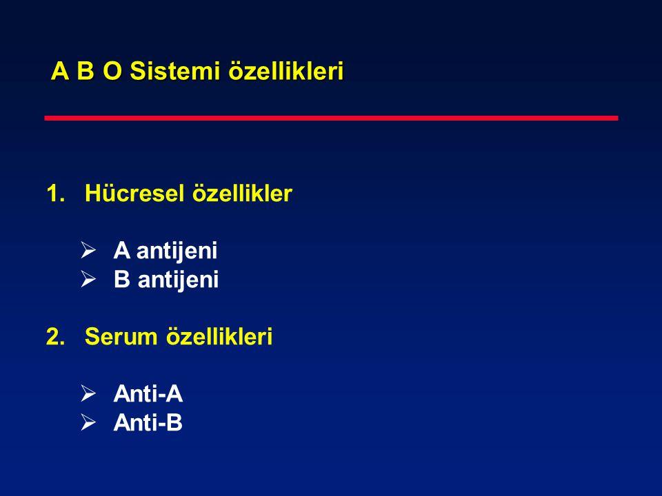 A B O Sistemi özellikleri