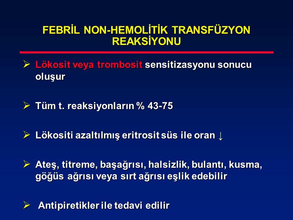 FEBRİL NON-HEMOLİTİK TRANSFÜZYON REAKSİYONU
