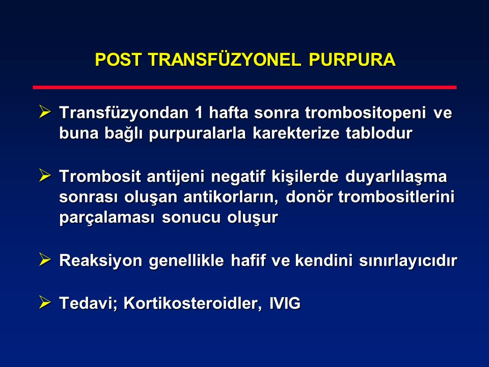 POST TRANSFÜZYONEL PURPURA