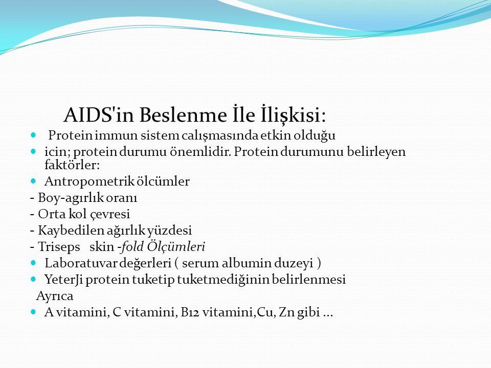 AIDS in Beslenme İle İlişkisi:
