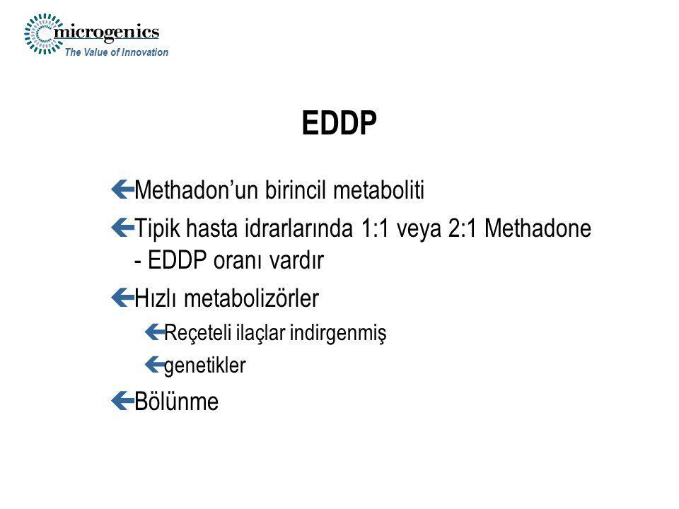 EDDP Methadon'un birincil metaboliti
